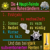 SilberRakete_Ruhestand-Feinde-Wetter