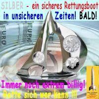 SilberRakete_Silber-Rettungsboot-billig