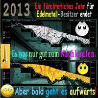 SilberRakete_2013-Fuerchterliches-Jahr-Horror-GOLD-SILBER-Charts-fallend-Smileys-bald-aufwaerts