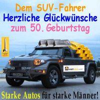 SilberRakete_50Geb-SUV-Fahrer-starke-Autos-Gold-Silber