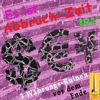 SilberRakete_Abbruchzeit-Waehrungs-Ruinen-Dollar-Euro-Yen-Treppe