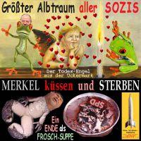 SilberRakete_Albtraum-Sozis-Merkel-Kuessen-sterben-Frosch-tot-SPD-Suppe