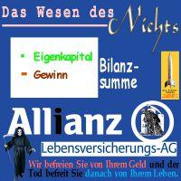 SilberRakete_Allianz-Lebensversicherung-Bilanz-Kapital-Gewinn-Wesen-Nichts-Tod