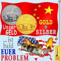 SilberRakete_China-Geld-Gold-Silber-USA-Dollar-brennt