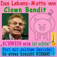 SilberRakete_Cohn-Bendit-Motto-Schwein-sein-Gesindel