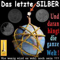 SilberRakete_Das-letzte-Silber-Wuerfel-Erde-in-Seilen-Silbermuenzen