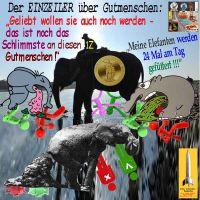 SilberRakete_Einzeiler-Gutmenschen-rot-gruen-Elefanten-GOLD-Hans2
