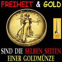 SilberRakete_Freiheit-Gold-selbe-Seite-Goldmuenze