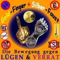 SilberRakete_GOLD-Finger-SILBER-Faust-gegen-Luegen-Verrat