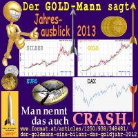 SilberRakete_GOLDMann-Ausblick2013-GOLD-SILBER-EURO-DAX-Crash