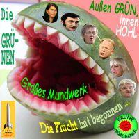 SilberRakete_GRUENE-aussen-gruen-innen-hohl-Melone-Mundwerk-Flucht