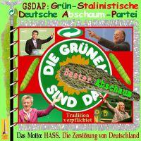 SilberRakete_GSDAP-Gruene-Fahne-Wuermer-Abschaum