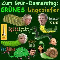 SilberRakete_Gruendonnerstag-GRUENE-Ungeziefer-ekelhaft-Verraeter