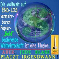 SilberRakete_Illusion-Papiergeld-Dollar-Weltwirtschaft-Blase-platzt-irgendwann