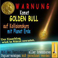 SilberRakete_Komet-GOLD-BULL-Kollisionskurs-Erde