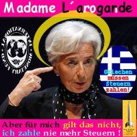 SilberRakete_Lagarde-arrogant-Heiligenschein-IWF-Steuern
