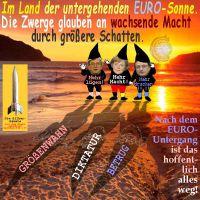 SilberRakete_Land-untergehender-EURO-Sonne-Zwerge-Juncker-Merkel-Draghi