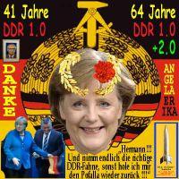 SilberRakete_Merkel-41JahreDDR1-64JahreDDR2-Koenigin-Groehe-Fahne