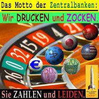 SilberRakete_Motto-Zentralbanken-Drucken-Zocken-EZB-FED-JPY-CN-Euro-Dollar