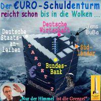 SilberRakete_TARGET2-Euro-Schulden-Turm-Bundesbank-Weidmann