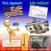 SilberRakete_USA-Pleite-Dollar-Feuer-GOLD-Mann-steigt-Schwarzer-Schwan