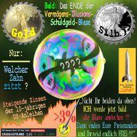 SilberRakete_Vermoegens-Illusions-Schuldgeld-Blase-GOLD-SILBER-Zinsen-3Prozent-Nadel-anstechen2