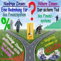 SilberRakete_Zinsen-hoch-niedrig-Weg-Gabelung-Instabil-TOD-Zerstoerung