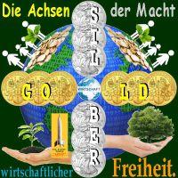 SilberRakete_Achsen-Macht-wirtschaftlicher-Freiheit-GOLD-SILBER-Erde-Menschen-Hand-Baum