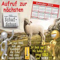 SilberRakete_Aufruf-zur-naechsten-Schafschur-Kalender-Ecke-Termin-fehlt-egal-GOLD-SILBER-Mann