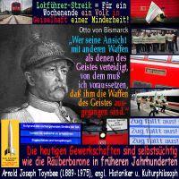 SilberRakete_Bahn-Lokfuehrer-Streik-GDL-Minderheit-Volk-Geiselhaft-Zitat-Bismarck-Gewerkschaften-Raeuberbarone