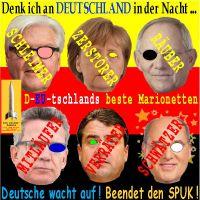 SilberRakete_Beliebte-Politiker-D-Steinmeier-Merkel-Schaeuble-deMaiziere-Gabriel-Gysi-SPUK-beenden