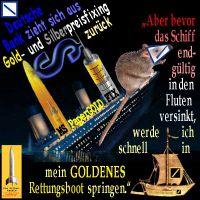 SilberRakete_DeutscheBank-GoldPreis-Fixing-Rueckzug-Ratte-sinkendes-Schiff-Rettungsboot-GOLD
