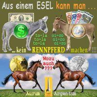 SilberRakete_ESEL-Dollar-Euro-kein-RENNPFERD-GOLD-SILBER