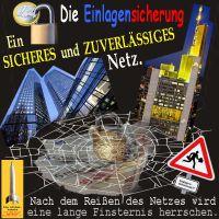 SilberRakete_Einlagensicherung-Sicheres-Spinnennetz-DeutscheBank-Commerzbank-Reissen-Finsternis