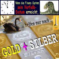 SilberRakete_Finanzsystem-Verfallsdatum-Uhr-Dollar-Welle-SchwarzerSchwan-GOLD-SILBER