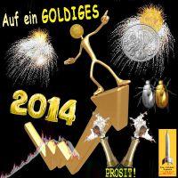SilberRakete_Goldiges-2014-GOLD-Chart-SILBER-Bugs-Feuerwerk-Sekt-Goldmann-WE