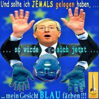 SilberRakete_Juncker-EU-jemals-gelogen-Gesicht-blau-faerben-Spiegelbild