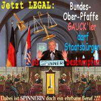 SilberRakete_Justiz-legal-Gauck-Spinner-Staatsbuerger-beschimpfen-Spinnerin-ehrbarer-Beruf