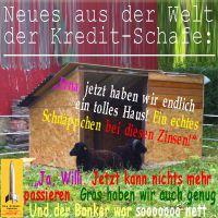 SilberRakete_Kredit-Schafe-Haus-niedrige-Zinsen-Gras-Banker-nett