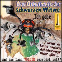 SilberRakete_Merkel-Schwarze-Witwe-Spinne-Deutschland-zerstoeren-keine-Arbeitszwerge2