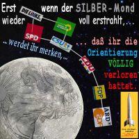 SilberRakete_Parteien-Orientierung-verloren-ARD-ZDF-KleinerWagen-Mond-SILBER-erstrahlt