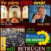 SilberRakete_Schuld-einreden-will-betruegen-Kirchen-GeorgeSoros-Politik-Parteien-Gruene