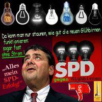 SilberRakete_Siegmar-Gabriel-SPD-Verbot-Gluehbirne-Bild3-Staunen-neue-schwarze-Gluehbirnen-ohne-Strom