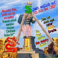 SilberRakete_USA-Dollar-Chef-Freiheitsstatue-Hals-Schlinge-Russischer-Baer-Chinesischer-Drache-GOLD