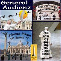 SilberRakete_Vatikan-Papst-Franziskus1-General-Audienz-Schwarze-Schwaene-Sensen-Maenner-zurueckziehen