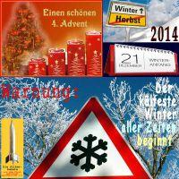 SilberRakete_Vierter-Advent-20141221-Winteranfang-Schild-Schnee-Warnung-Kaeltester-Winter-aller-Zeiten-beginnt