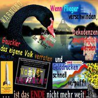 SilberRakete_Warnung-SchwarzerSchwan-Flieger-Dekadenz-Gauckler-Verrat-DAX-Gelddrucken-Ende-Tod