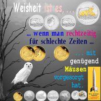 SilberRakete_Weisse-Eule-Baum-Weisheit-rechtzeige-Vorsorge-schlechte-Zeiten-mit-genug-Maeusen-Lunar-GOLD-SILBER