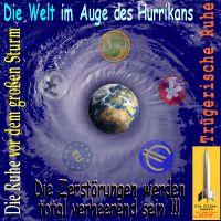 SilberRakete_Welt-im-Auge-Hurrikan-Erde-Dollar-Pfund-Yen-Euro-EU-Zerstoerungen
