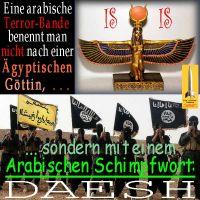 SilberRakete_Arabische-Bande-ISIS-Nicht-Aegyptische-Goettin-Schimpfwort-DAESH